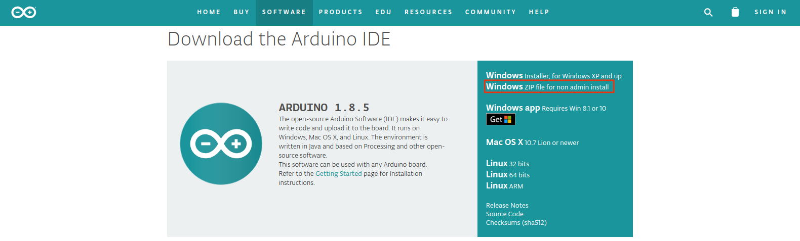 arduino software download for windows 7